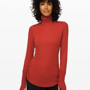 NWT Lululemon Full Day Ahead Orange Turtleneck XL